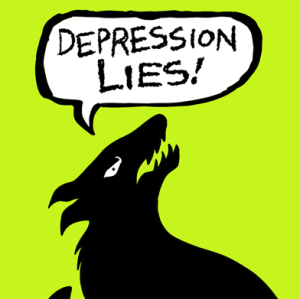 Depression Lies - A comic by Robin Pronovost
